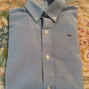 Boys Vineyard Vines whale shirt.